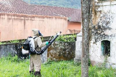 Nebulização ocorre em bairros de Iguape