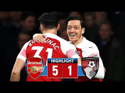 Arsenal vs Bournemouth 5-1 Football Highlights and Goals 2019