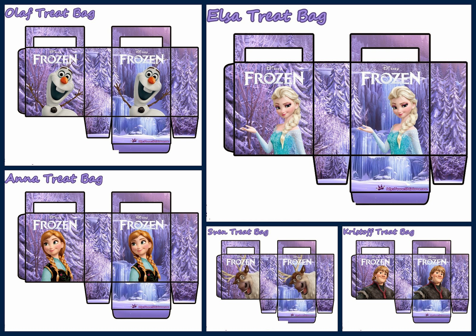 photo about Printable Paper Bags named Frozen: No cost Printable Paper Baggage in just Lilac. - Oh My Fiesta