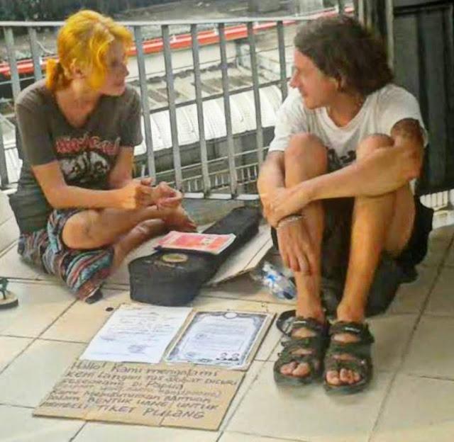 Dua Mahasiswa Rusia, Dimitrii Abdugafarov dan Aleksandra Kolesnikova Jadi Gelandangan di Jakarta