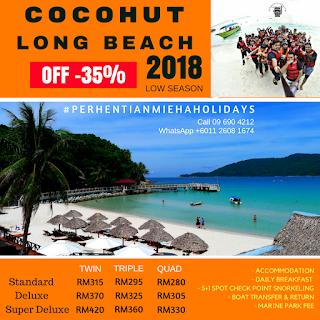 Pehentian Kecil Cocohut Long Beach Resort 2018