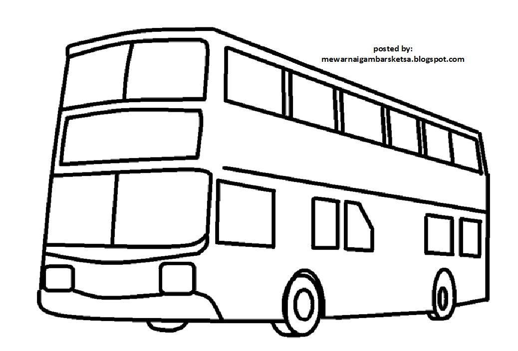 Mewarnai Gambar Mewarnai Gambar Bus 4