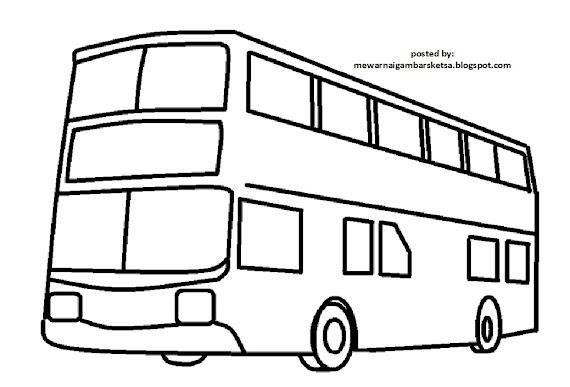 Sketsa Gambar Bus