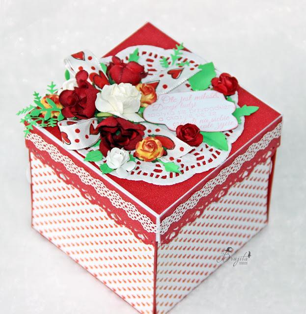prezent na ślub, jak wręczyć pieniążki na ślub, pomysł na prezent ślubny, exploding box, galeria papieru inspiracje