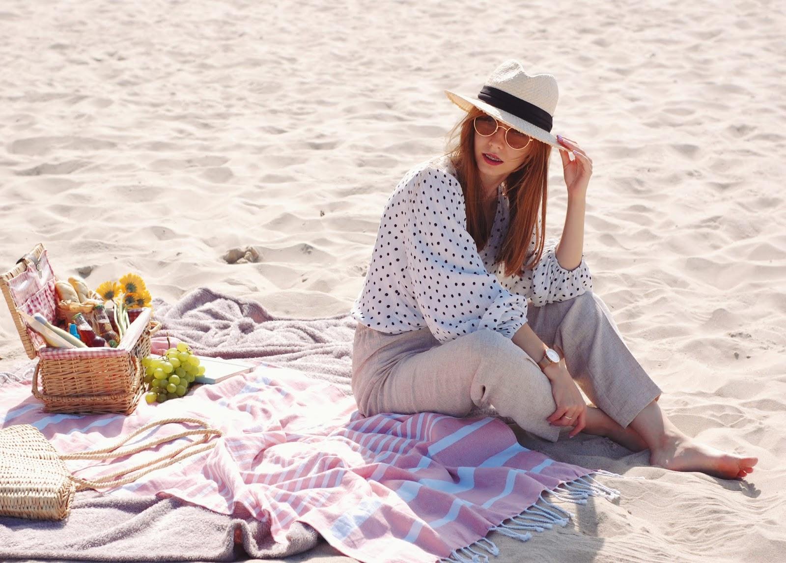 Włoska stylizacja | groszki i szerokie nogawki w wakacyjnej stylizacji