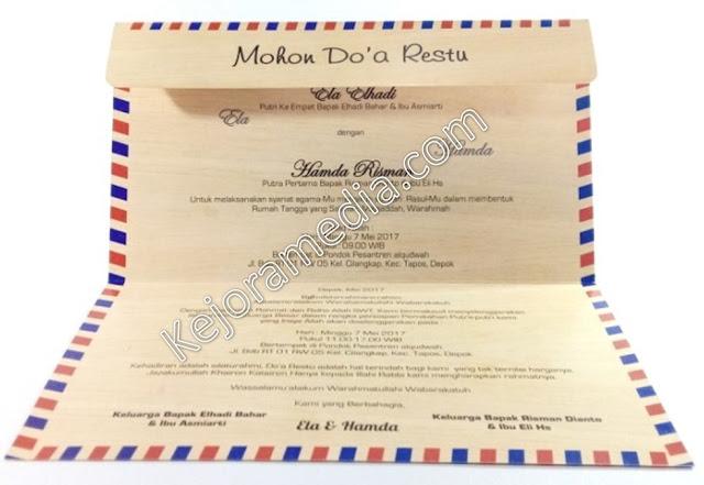 undangan nikah bentuk amplop