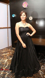 Telugu Anchor Actress Anasuya Bharadwa Stills in Strap Less Black Long Dress at Winner Pre Release Function  0052.jpg