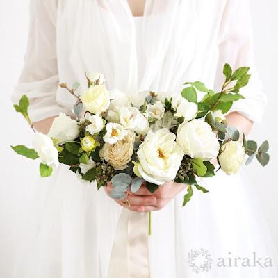 ケリーローズのブーケ‗ウェディングブーケと花の髪飾りairaka