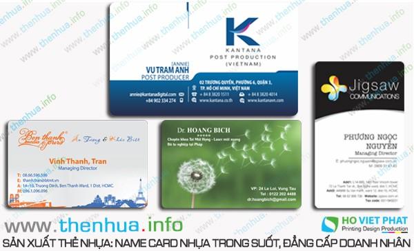  Sản xuất làm namecard trong suốt có độ dẻo cao  giá rẻ, uy tín hàng đầu