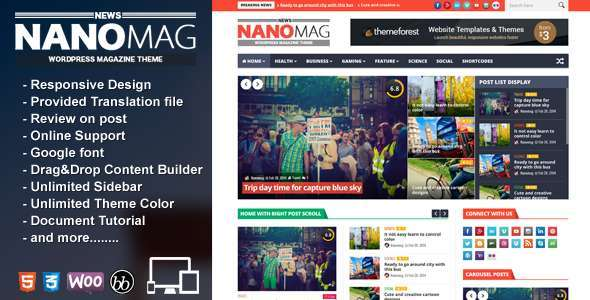 NanoMag - Responsive WordPress Magazine Theme - News / Editorial Blog / Magazine