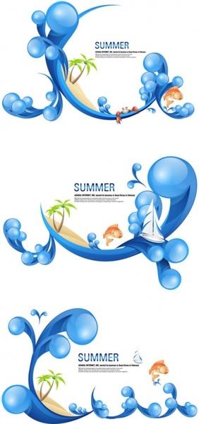Special summer theme vector Free vector