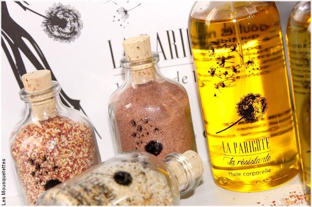 Rituels corps - Poudre gommante et huile corporelle - Institut La Parigote Paris - Blog beauté Les Mousquetettes