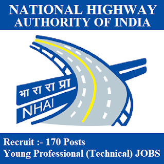 National Highways Authority of India, NHAI, Young Professionals, Graduation, freejobalert, Sarkari Naukri, Latest Jobs, nhai logo