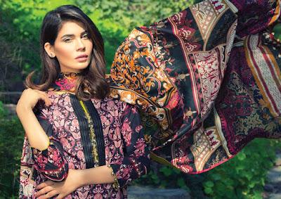 Alkaram new summer lawn prints 2017 with chiffon dupatta