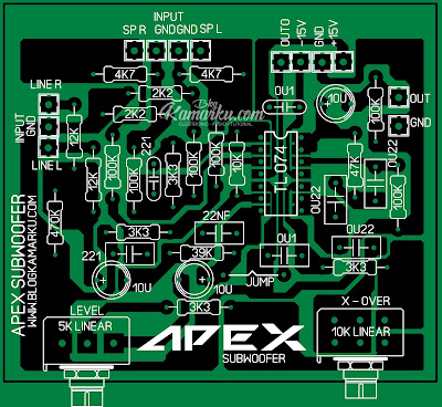 PCB Layout Subwoofer Apex audio