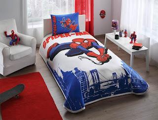 Taç Lisanslı Spiderman Bridge Tek Kişilik Pike Takımı