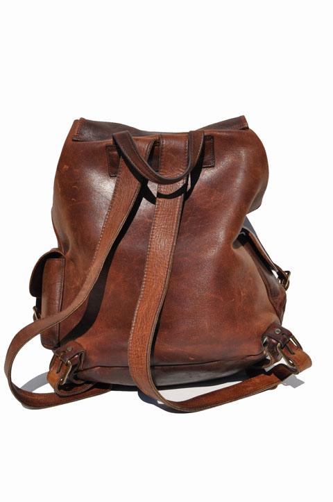 Goodbye Heart Vintage Large Vintage Leather Backpack