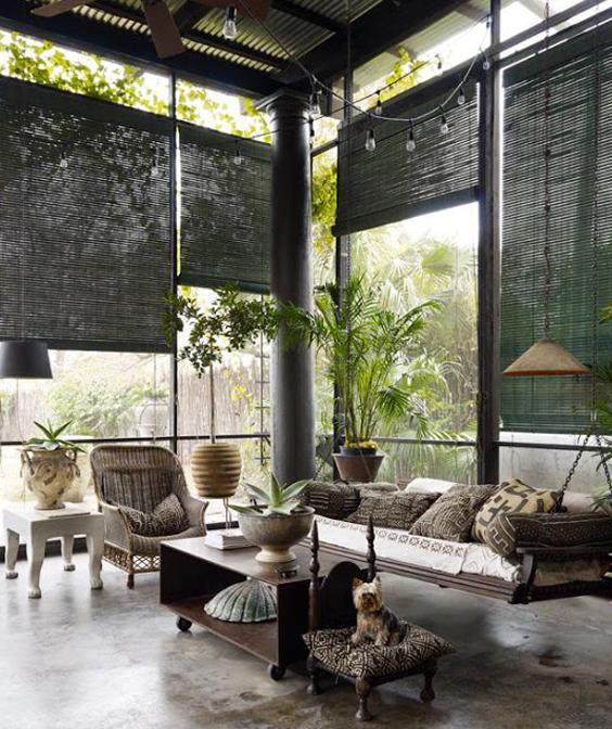 idees deco stores pour baies vitrées