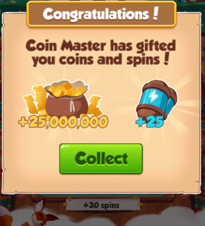 Coin Master Free Spin And Coins + 25 Spins + 25,000,000 — 16-08-18 — - coin master free spin and