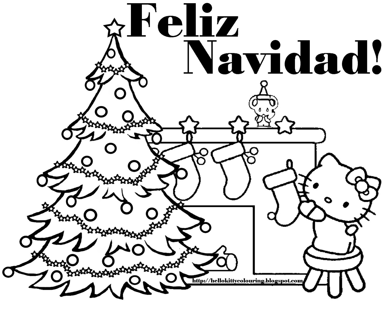 spanish coloring pages christmas | Hello Kitty Christmas Coloring Pages #2 | Hello Kitty Forever