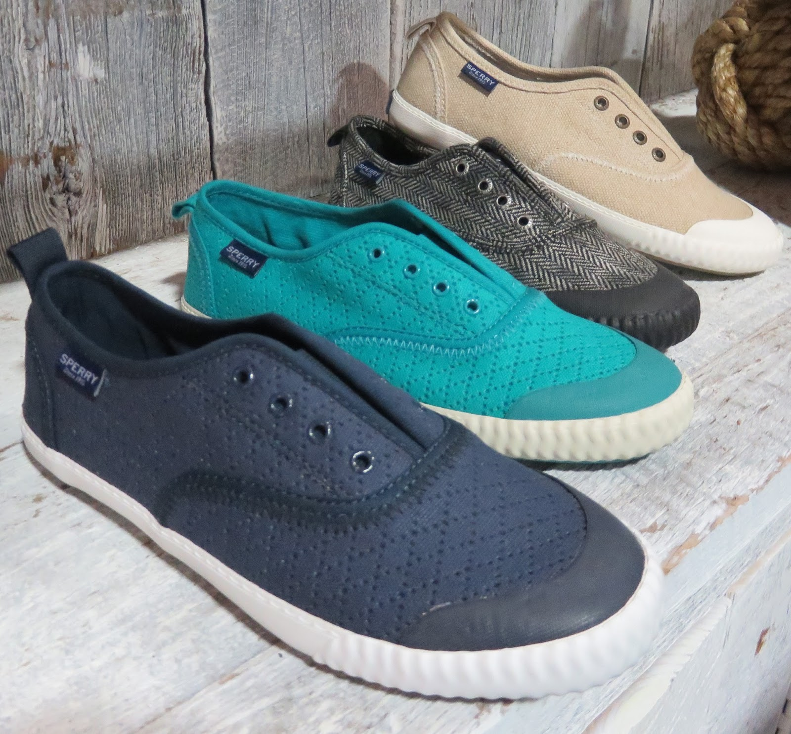 31618a5e84 Sayel Clew perforated sneaker style perforated breathable uppers-back 2 are  in waxy textured canvas - 60 W-cute slip-ons that walk well w  rubber  outsole-ez ...