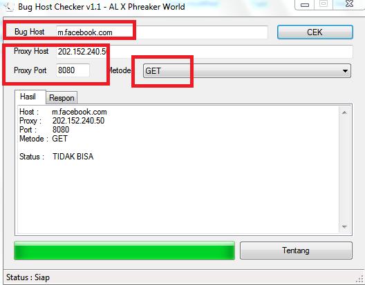 Cara menggunakan bugs host checker tools
