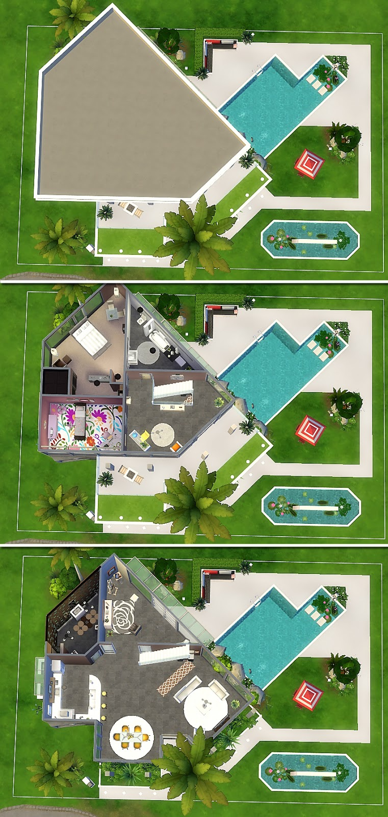 House 25 the sims 4 via sims for Casa moderna sims 3 sin expansiones