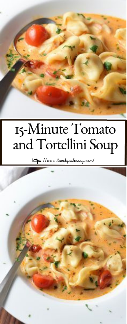 15-Minute Tomato and Tortellini Soup #quickrecipe #lunchrecipe