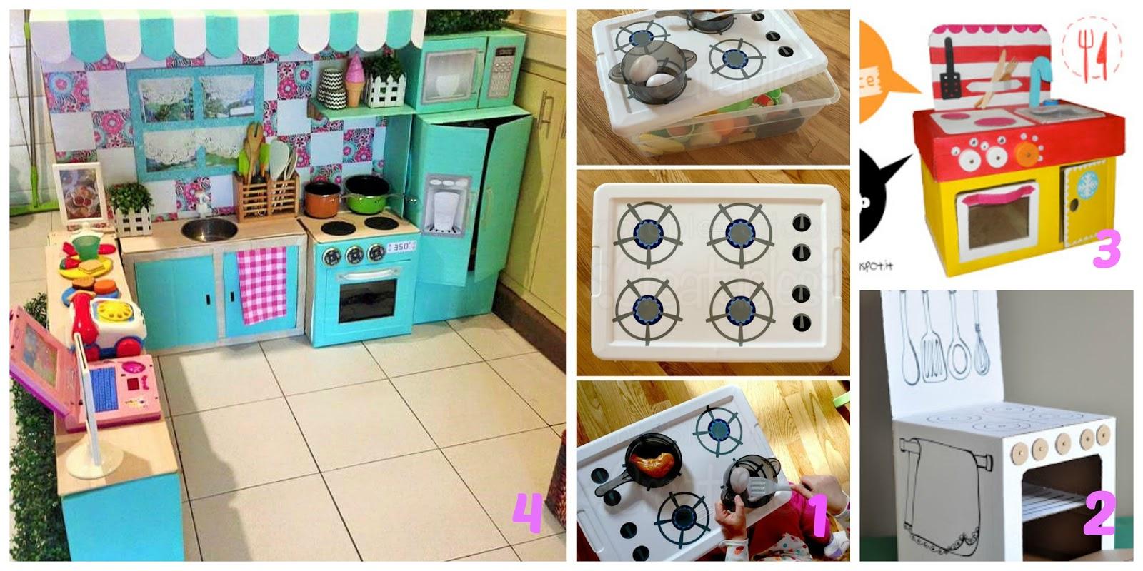 Come fare una cucina giocattolo per bambini con materiali riciclati  donneinpink magazine