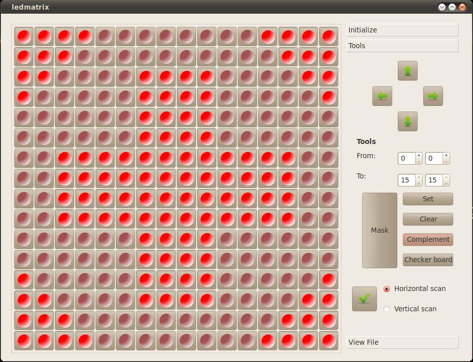 OpenTechLab: LED Matrix pattern designer