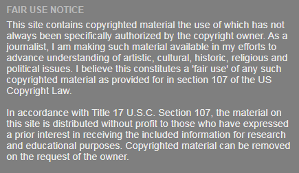 Fair Use Notice Pinched from Chris Knowles :-)