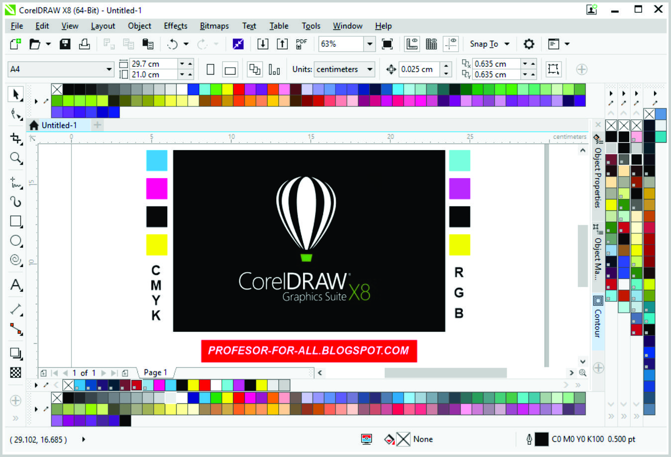 Corel Draw X8 Page Project