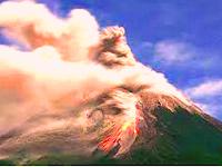 Bahan-Bahan Material Yang Dikeluarkan Gunung Api Saat Meletus / Erupsi