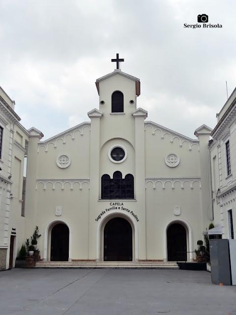 Vista da fachada da Capela Sagrada Família e Madre Paulina - Ipiranga - São Paulo