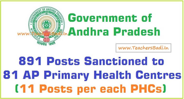 AP Primary Health Centres,various posts, recruitment,PHCs