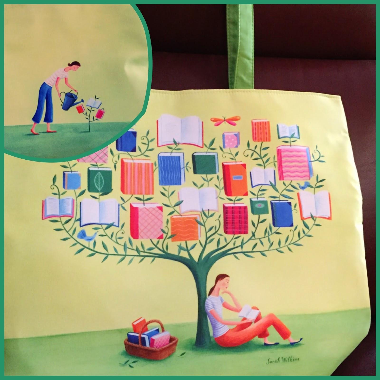 """""""book tree"""" tote bag"""