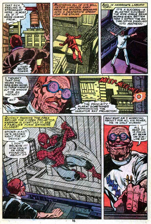 Amazing Spider-Man v1 #206 marvel comic book page art by John Byrne