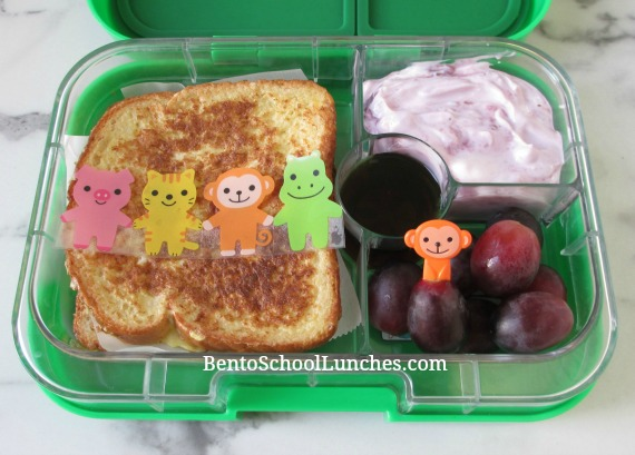French toast breakfast for lunch with a cute baran sheet