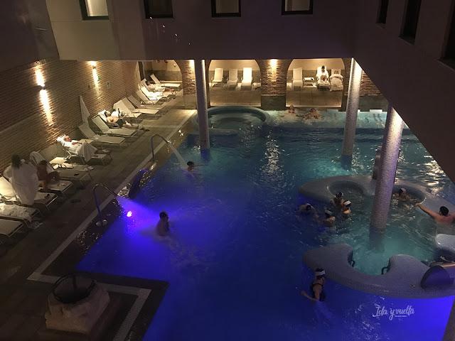 La piscina desde arriba
