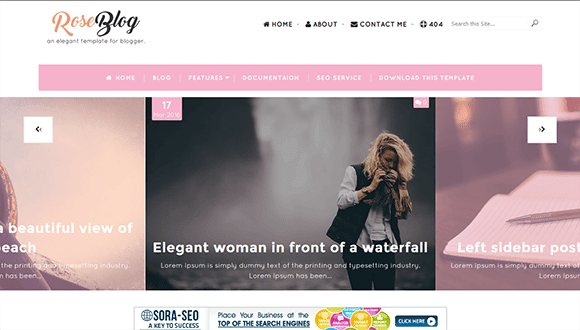 Rose Blogger template