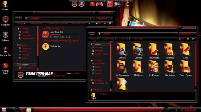 Screenshot Tema Iron Man for Windows 10
