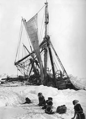 Endurance, crushed by ice and sinking, November 1915