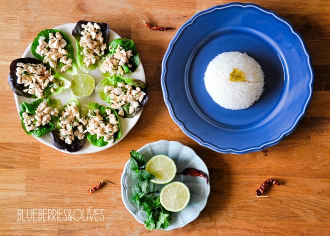 Ensalada Larb Gai tailandesa 1
