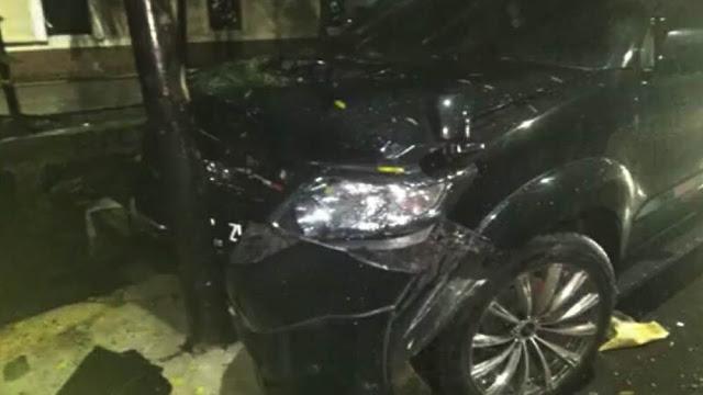 Mobil Setya Novanto yang Alami Kecelakaan