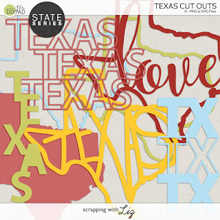 Texas Cut Outs for Digital and Hybrid Scrapbooking