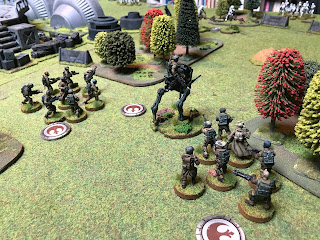 Two Rebel infantry units advance with the AT-RT
