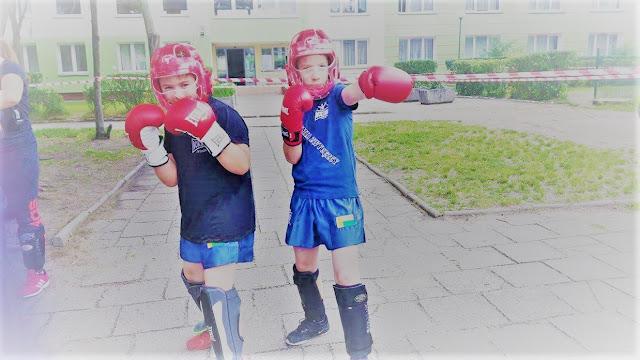 Sparingpartnerzy - Sergiusz i Kamil dali świetny pokaz walki wywołującej zainteresowanie publicznośći!