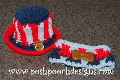 Posh Pooch Designs Dog Clothes: Uncle Sams Hat - Give Away!!!