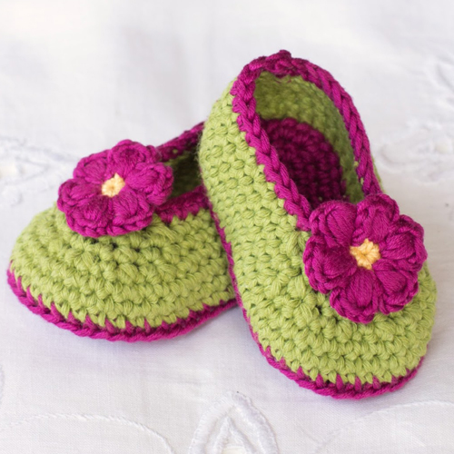 Fairy Blossom Baby Booties - Free Pattern