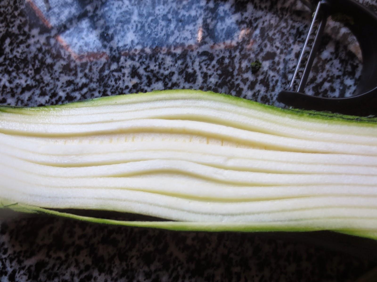 Espaguetis de calabacín con langostinos Thermomix